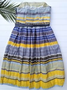 Anthropologie Dresses - Anthro Maeve Yellow/Blue Striped Paraiso Dress